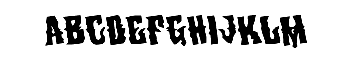 Warlock's Ale Rotated Font UPPERCASE