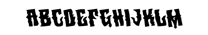 Warlock's Ale Rotated Font LOWERCASE