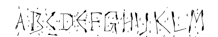 Warlord Font LOWERCASE