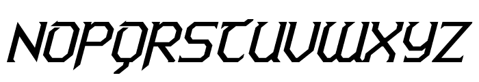 Warlords Italic Font UPPERCASE
