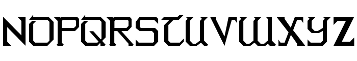 Warlords Normal Font UPPERCASE