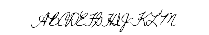 WarmShowers Font UPPERCASE