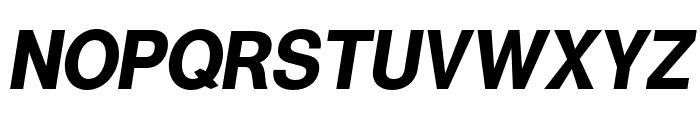 Warownia Bold Narrow Oblique Font UPPERCASE