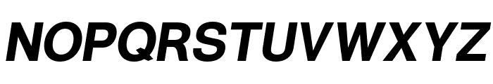 Warownia Bold Oblique Font UPPERCASE