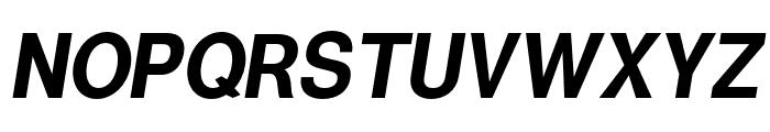 Warownia Narrow Oblique Font UPPERCASE