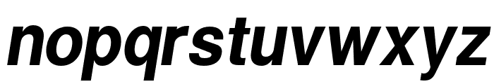 Warownia Narrow Oblique Font LOWERCASE