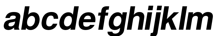 Warownia Oblique Font LOWERCASE