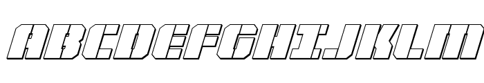 Warp Thruster 3D Italic Font UPPERCASE