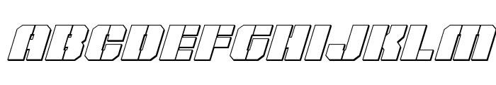 Warp Thruster 3D Italic Font LOWERCASE