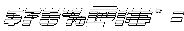 Warp Thruster Chrome Italic Font OTHER CHARS