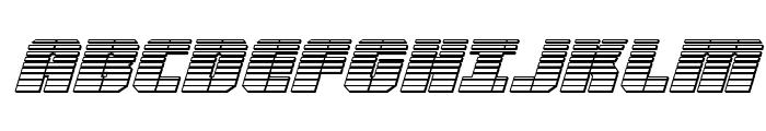 Warp Thruster Chrome Italic Font UPPERCASE