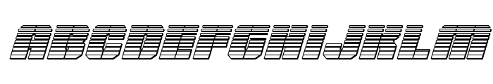 Warp Thruster Chrome Italic Font LOWERCASE