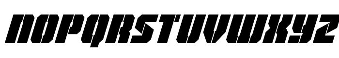 Warp Thruster Condensed Italic Font LOWERCASE