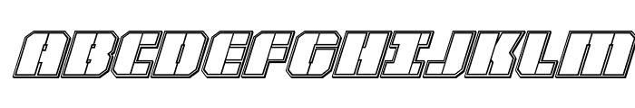 Warp Thruster Engraved Italic Font UPPERCASE