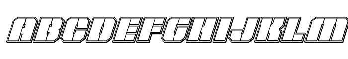 Warp Thruster Engraved Italic Font LOWERCASE