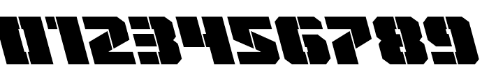 Warp Thruster Leftalic Font OTHER CHARS
