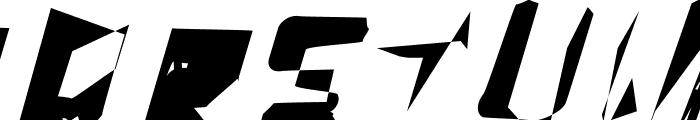 WarpStorm Font UPPERCASE
