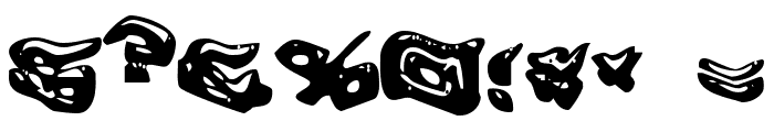 Warped Greased Monkey Font OTHER CHARS