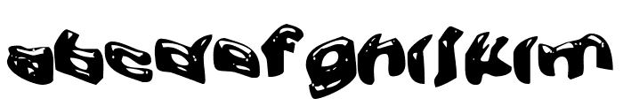 Warped Greased Monkey Font LOWERCASE