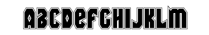 Warrior Nation Academy Regular Font LOWERCASE