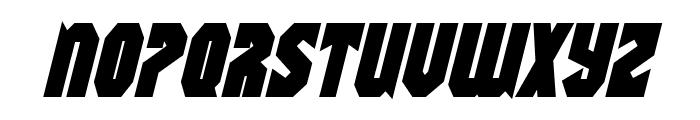 Warrior Nation Bold Italic Font UPPERCASE