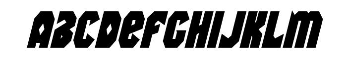 Warrior Nation Bold Italic Font LOWERCASE