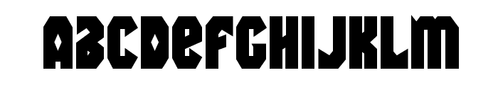 Warrior Nation Bold Font LOWERCASE