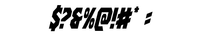 Warrior Nation Condensed Italic Font OTHER CHARS