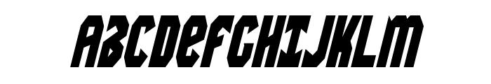 Warrior Nation Condensed Italic Font UPPERCASE