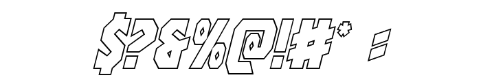 Warrior Nation Outline Italic Font OTHER CHARS