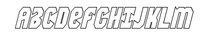 Warrior Nation Outline Italic Font UPPERCASE