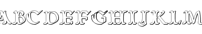 Wars of Asgard 3D Font LOWERCASE