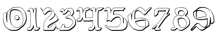 Wars of Asgard Condensed 3D Font OTHER CHARS
