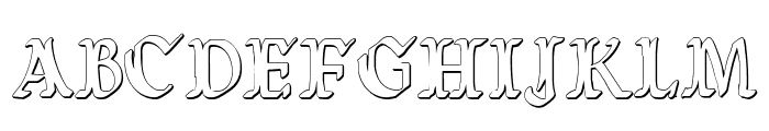 Wars of Asgard Condensed 3D Font UPPERCASE