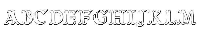 Wars of Asgard Condensed 3D Font LOWERCASE