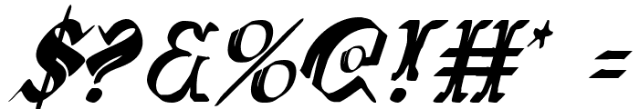 Wars of Asgard Condensed Italic Font OTHER CHARS