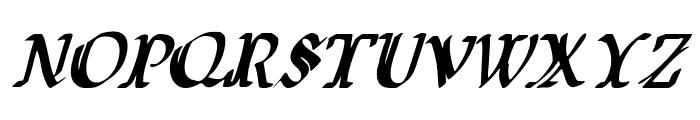 Wars of Asgard Condensed Italic Font UPPERCASE