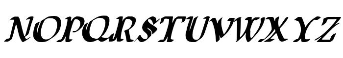 Wars of Asgard Condensed Italic Font LOWERCASE