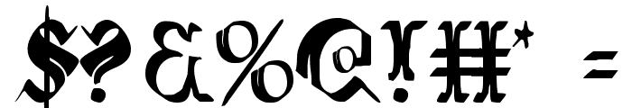 Wars of Asgard Condensed Font OTHER CHARS