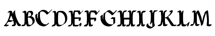 Wars of Asgard Condensed Font LOWERCASE