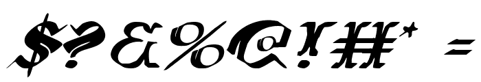 Wars of Asgard Expanded Italic Font OTHER CHARS