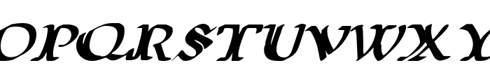 Wars of Asgard Expanded Italic Font UPPERCASE
