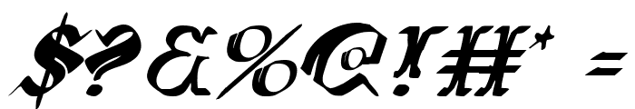 Wars of Asgard Italic Font OTHER CHARS