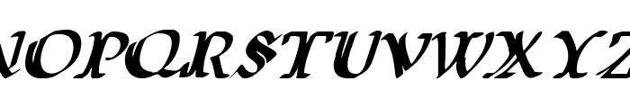 Wars of Asgard Italic Font UPPERCASE