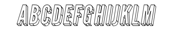 Warsaw Gothic 3D Oblique Font UPPERCASE
