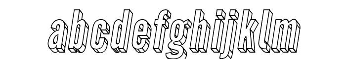 Warsaw Gothic 3D Oblique Font LOWERCASE