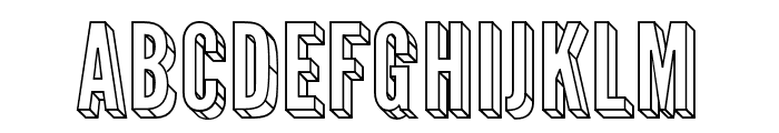 Warsaw Gothic 3D Font UPPERCASE