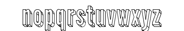 Warsaw Gothic 3D Font LOWERCASE
