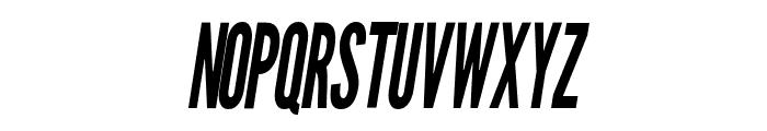 Warsaw Gothic Condensed OBlique Font UPPERCASE