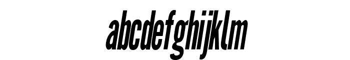 Warsaw Gothic Condensed OBlique Font LOWERCASE